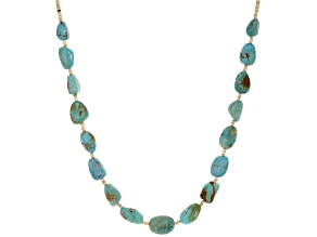 Pre-Owned Turquoise Nugget And Heishi Shell Bead Sterling Silver Necklace