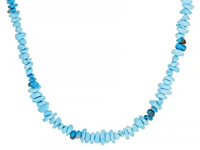Pre-Owned Sleeping Beauty Turquoise Chips Strand Sterling Silver Necklace