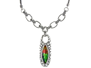 Pre-Owned Ammolite Doublet Sterling Silver Necklace