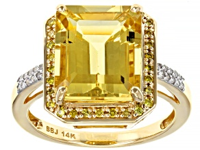 Pre-Owned Yellow Beryl 14k Yellow Gold Ring 4.85ctw