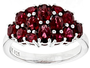 Pre-Owned Red Spinel Rhodium Over  Silver Ring 1.90ctw