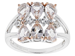 Pre-Owned Pink Morganite Sterling Silver Ring 2.06ctw