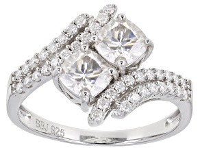 Pre-Owned Moissanite Platineve Ring 1.58ctw DEW