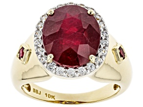 Pre-Owned Red Mahaleo(R) Ruby 10k Yellow Gold Ring 6.09ctw