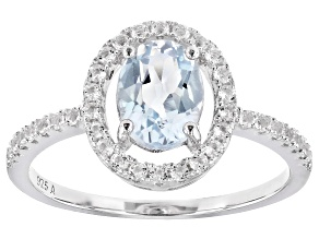 Pre-Owned Sky Blue Topaz Rhodium Over Sterling Silver Ring 2.00ctw