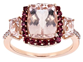 Pre-Owned Pink Cor-De-Rosa Morganite™ 10k Rose Gold Ring 3.36ctw