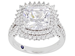 Pre-Owned White Cubic Zirconia Platineve ® Ring 8.36ctw