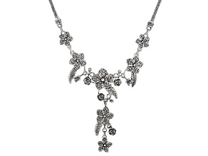 Pre-Owned Sterling Silver Floral Necklace