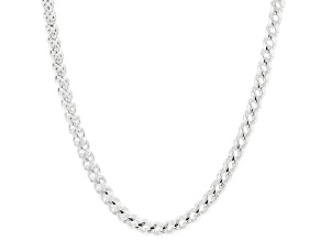 Pre-Owned Sterling Silver Franco Chain Necklace 20 inch