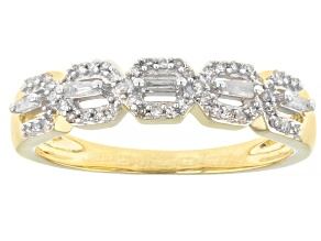Pre-Owned White Diamond 10K Yellow Gold Band Ring 0.20ctw