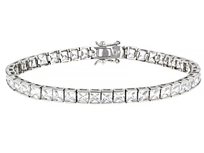 Pre-Owned Cubic Zirconia Rhodium Over Sterling Silver Bracelet 16.77ctw