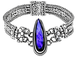 Pre-Owned Labradorite Doublet Sterling Silver Bracelet