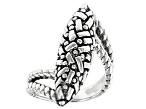 """Pre-Owned Sterling Silver """"Fills My Soul"""" Elongated Ring"""
