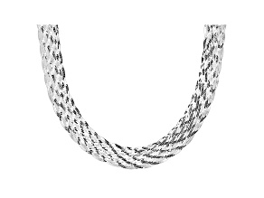 Pre-Owned Sterling Silver Braided Necklace 20 inch