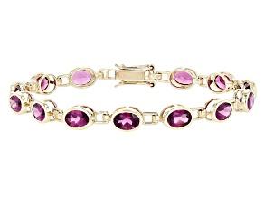 Pre-Owned Purple Grape Color Garnet 10K Gold Bracelet 9.73ctw