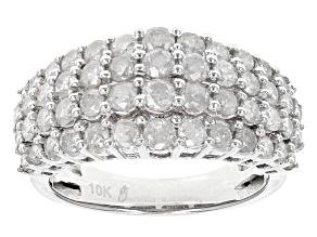 Pre-Owned White Diamond 10k White Gold Ring 2.03ctw