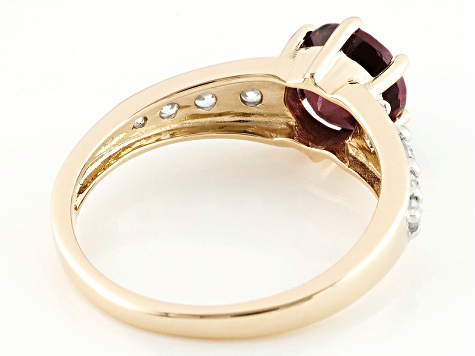 Pre-Owned Grape Color Garnet 10k Yellow Gold Ring 1.69ctw