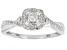 Pre-Owned White Diamond 10k White Gold Cluster Ring 0.33ctw