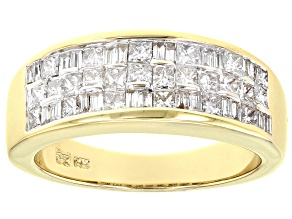 Pre-Owned White Diamond 14K Yellow Gold Band Ring 1.00ctw