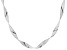 Pre-Owned Sterling Silver Ribbon Omega Necklace 20 inch