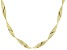 Pre-Owned 18k Yellow Gold Over Sterling Silver Ribbon Omega Necklace 20 inch