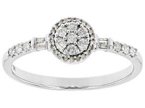 Pre-Owned White Diamond 10K White Gold Promise Ring .25ctw