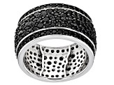 Pre-Owned  Black Spinel Rhodium Over Silver Ring 3.72ctw