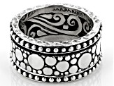 Pre-Owned Sterling Silver Scattered Jawan Design Spinner Band Ring
