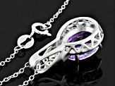 Pre-Owned Purple Amethyst Sterling Silver Pendant With Chain 2.08ctw