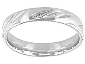 Pre-Owned Moda Al Massimo® Comfort Fit Rhodium Over Bronze 4MM Diamond Cut Band Ring