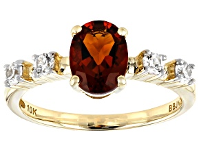 Pre-Owned Orange Madeira Citrine 10k Yellow Gold Ring 1.28ctw