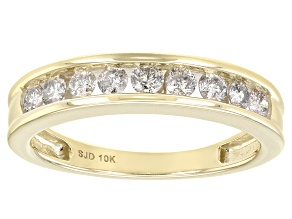 Pre-Owned White Diamond 10k Yellow Gold Band Ring 0.50ctw