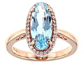 Pre-Owned  Sky Blue Topaz 10K Rose Gold Ring 3.85ctw