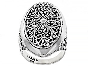 """Pre-Owned Sterling Silver """"Limitless Strength"""" Statement Ring"""