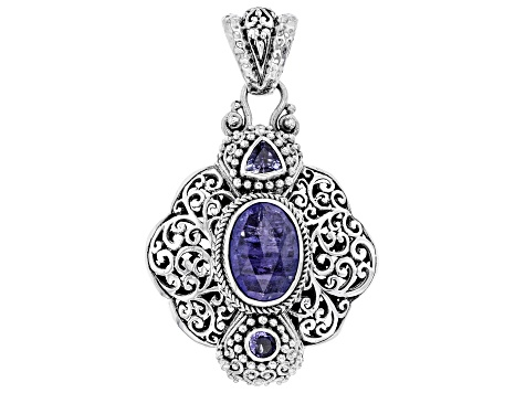 Pre-Owned Blue Tanzanite Sterling Silver Pendant 5.30ctw