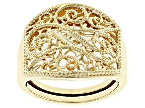 Pre-Owned 10KT Yellow Gold Filigree Ring