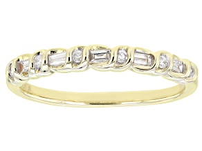 Pre-Owned White Diamond 10k Yellow Gold Band Ring 0.15ctw