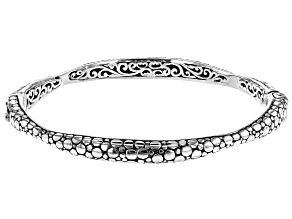 "Pre-Owned Sterling Silver ""Faithful Servant"" Bangle Bracelet"