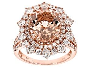 Pre-Owned Pink Morganite 14k Rose Gold Ring 5.95ctw