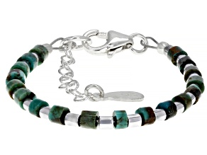 Pre-Owned Green Kingman Turquoise Silver Baby Bracelet