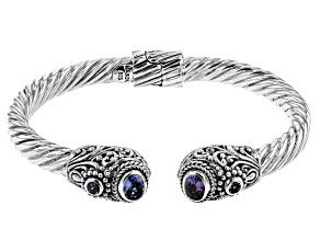 Pre-Owned Tanzanite Sterling Silver Cuff Bracelet 1.32ctw