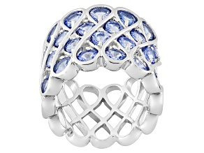 Pre-Owned Blue Tanzanite Sterling Silver Ring 4.27ctw
