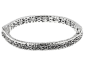 "Pre-Owned Sterling Silver ""Promises III Collection"" Bangle Bracelet"