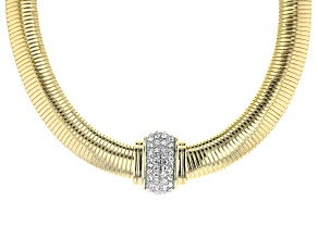 Pre-Owned Off Park Collection™ Gold Tone White Crystal Cobra Necklace