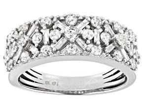 Pre-Owned White Diamond 10K White Gold Band Ring 1.00ctw