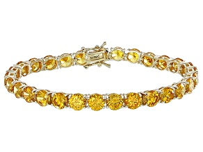 Pre-Owned Bella Luce® 35.82ctw Yellow Diamond Simulant 18k Yellow Gold Over Silver Bracelet
