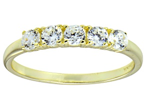 Pre-Owned Bella Luce® Round White Diamond Simulant 18k Gold Over Sterling Silver Ring