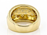 Pre-Owned 10k Yellow Gold Domed Clover Band Ring
