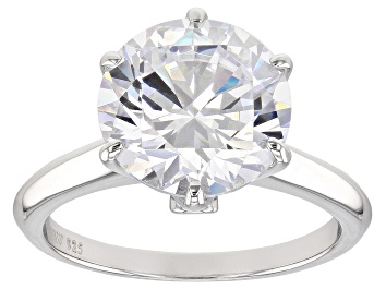 Picture of Pre-Owned White Cubic Zirconia Rhodium Over Sterling Silver Ring 7.99CTW