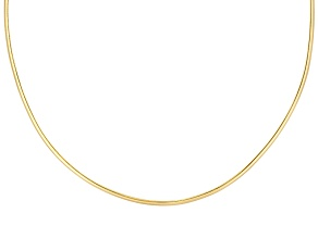 Pre-Owned 2mm 18k Yellow Gold Over Sterling Silver 18 inch Wire Collar Necklace